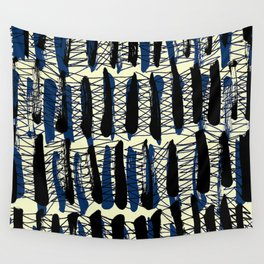 Blue Criss Cross - Sarah Bagshaw Wall Tapestry