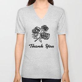 Thank You Roses Unisex V-Neck
