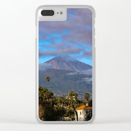Volcano Teide on Tenerife Clear iPhone Case