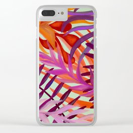 Warm Tropics Clear iPhone Case