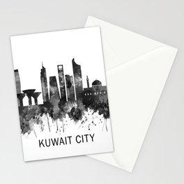 Kuwait City Kuwait Skyline BW Stationery Cards