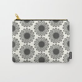 vintage flowers black Carry-All Pouch