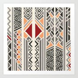 Tribal ethnic geometric pattern 034 Art Print