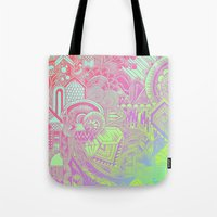 hologram Tote Bags featuring Hologram Wave by michiko_design