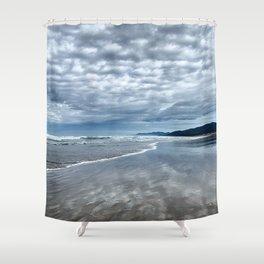 Cloud Reflection on the Oregon Coast Shower Curtain