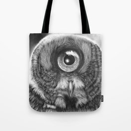 Evolution: Great Gray Owl Tote Bag
