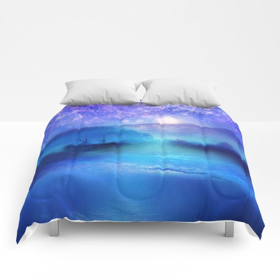 Fantasy in Blue. Comforters
