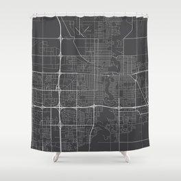 Fargo Map, USA - Gray Shower Curtain