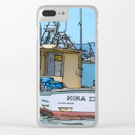 Fishing boat at Whitianga, NZ Clear iPhone Case