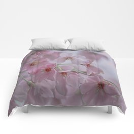 Delicate Pink Blossoms Comforters