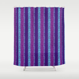 Messy Stripes in Purple, Fuchsia and Blue Shower Curtain