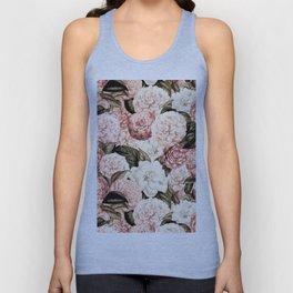 Vintage & Shabby floral camellia flowers watercolor pattern Unisex Tank Top