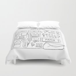 What's in my bag? Duvet Cover