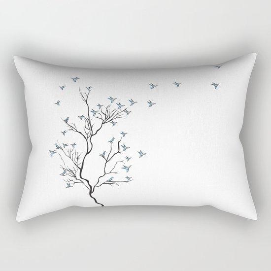 The Bird Tree Rectangular Pillow