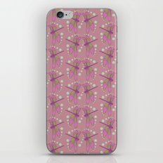 pattern with dragonflies 3 iPhone & iPod Skin