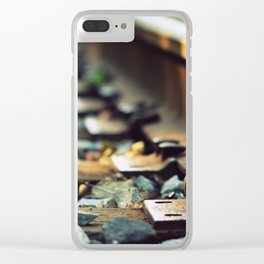 Jumping Someone Else's Train Clear iPhone Case