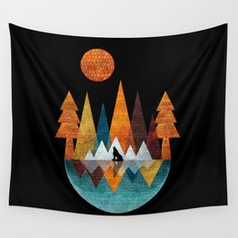 The Night Of The Wolf Wall Tapestry