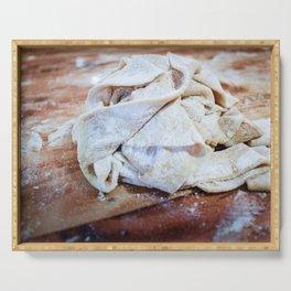handcut linguine pasta Serving Tray