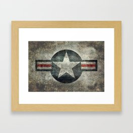 US Air force style insignia V2 Framed Art Print