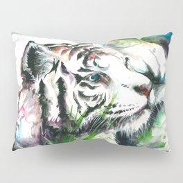 WHITE TIGER WATERCOLOR Pillow Sham