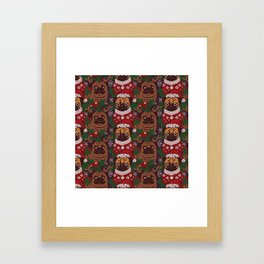 Christmas Party With The Pug Framed Art Print