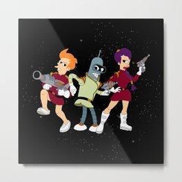Nimbus Crew: Leela, Fry and Bender Metal Print