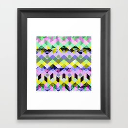 Diamond Chaos Framed Art Print