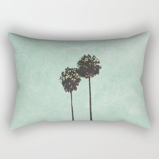 Brisbane Palm Trees Rectangular Pillow