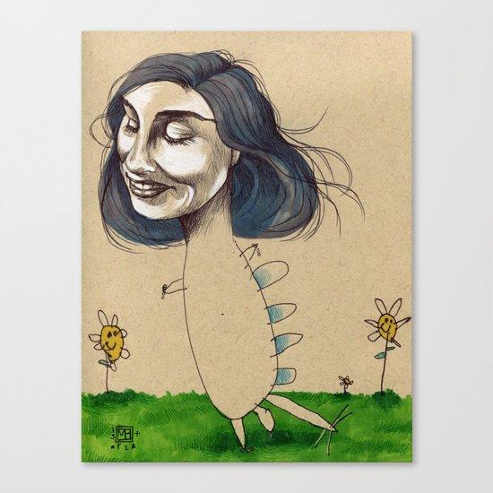 DINOSAUR GIRL Canvas Print