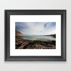 Under horizon Framed Art Print