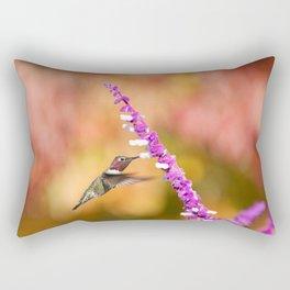 Magical Autumn Anna's Hummingbird Rectangular Pillow