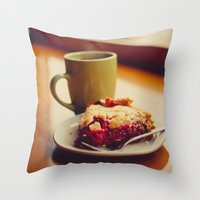 pie Throw Pillows featuring Pie by Jo Bekah Photography