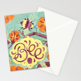 Persistence is Bee Stationery Cards