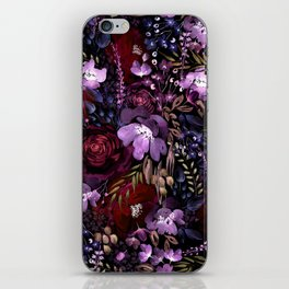 Deep Floral Chaos iPhone Skin