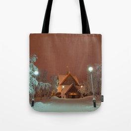 Kiruna Church In the Winter Snow Tote Bag
