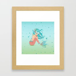 Monster Mermaid Pin-Up Framed Art Print