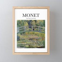 Monet - The Water Lily Pond Framed Mini Art Print