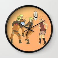 naruto Wall Clocks featuring Naruto Science by Solidus