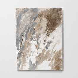 Vanilla Chocolate Sundae Melt Metal Print