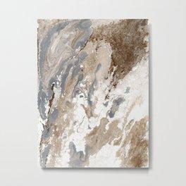 Vanilla Chocolate Sundae Melt Metal Print
