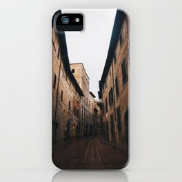 Medieval alley in Tuscany iPhone Case
