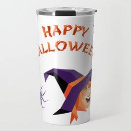 Halloween slogan with witch head Travel Mug