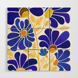The Happiest Flowers Wood Wall Art