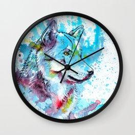 Wild Wolf Wall Clock