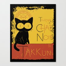 Chat Noir de Takkun Canvas Print