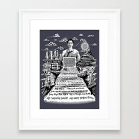 kerouac Framed Art Prints featuring on the road - kerouac  by miles to go
