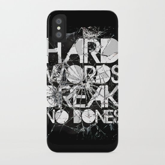 HARD WORDS iPhone Case