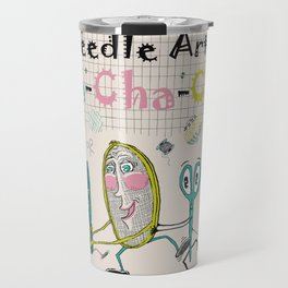 Needle Arts! Cha-Cha-Cha! Travel Mug