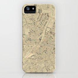 Vintage Map of Paris France (1843) iPhone Case