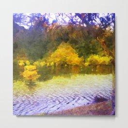 Colorful Lake Painting Metal Print